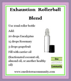 We all try to do so much and I know at times I become exhausted. I love to use oils to help boost me up and this blend is perfect! Roll over pulse points, cup and inhale! This will help get you going and over the exhaustion!