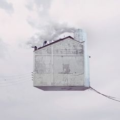 Flying Houses    Coup de coeur pour Laurent Chehere, un artiste français qui impressionne avec des manipulations photographies très réussies