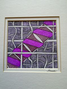 Using Tangles Pozi, Pladzy and Sand Swirl with Coloured pencil and gel pen