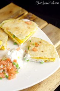 Breakfast Quesadillas Recipe - an easy and quick breakfast recipe with eggs…