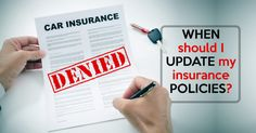 """Have you ever found yourself wondering """"when should I update my insurance policies? We have all of the answers for you! More info on our website. Link in bio."""