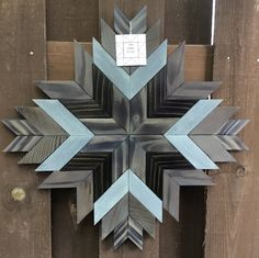 Reclaimed Wood Wall Art, Wood Wall Decor, Wooden Wall Art, Barn Wood, Barn Quilt Designs, Barn Quilt Patterns, Wood Patterns, Scrap Wood Projects, Woodworking Projects