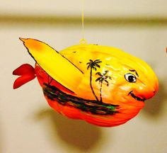 Hand painted coconut