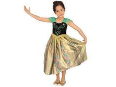 Fantasia Infantil Disney Frozen Anna Baile Luxo - M Rubie´s com as melhores condições você encontra no Magazine Voceflavio. Confira!