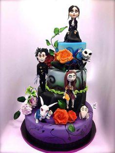 Tim Burton cake <3