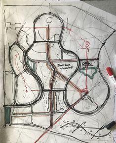 Architecture Site Plan, Landscape Architecture Drawing, Architecture Presentation Board, Landscape Plans, Concept Architecture, Landscape Design, Site Plan Design, Tv Set Design, Urban Design Plan