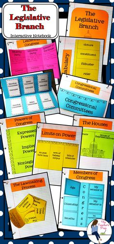 Learning about the U. Legislative Branch has never been more fun! This resource includes 8 interactive foldables AND an answer key! 7th Grade Social Studies, Social Studies Activities, Teaching Social Studies, Teaching Activities, History Interactive Notebook, Interactive Notebooks, Teaching Geography, Teaching History, Teaching Government