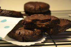 Chokoladecookies med karamel