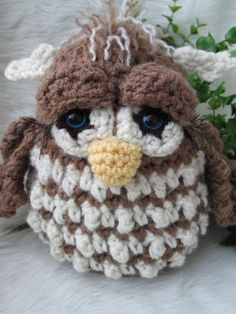 Simply Cute Owl Crochet Pattern This was just way too cute not to pin!