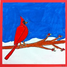 Art: Expression of Imagination: Cardinals by Third Grade