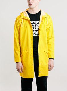 Rains Yellow Long Jacket