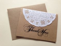 unique after wedding thank you | Vintage Lace Doilie Thank You Cards- Wedding, Birthday Party, Baby ...