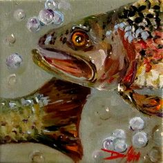 Lake Trout, painting by artist Delilah Smith
