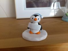 Personalised little penguin. Pottery penguin, any name personalisation by byKateElford on Etsy