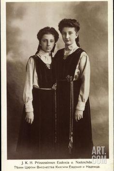 Ak J.K.H. Prinzessin Eudoxia Und Nadescha Von Bulgarien, Rotes Kreuz Photographic Print at Art.co.uk
