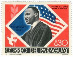 Paraguay postage stamp: Martin Luther King, Jr.