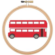 Cross stitch pattern Red bus London Bus £2.40 by CraftwithCartwright