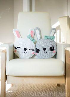 Mesmerizing Crochet an Amigurumi Rabbit Ideas. Lovely Crochet an Amigurumi Rabbit Ideas. Crochet Amigurumi, Crochet Bunny, Amigurumi Doll, Crochet Toys, Free Crochet, White Decorative Pillows, Crochet Cushions, Crochet Pillow, Diy Pillows