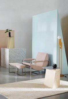 The new west elm collection is every interior designers dream. Looking to update your living space? We love this mid-century modern blush chair