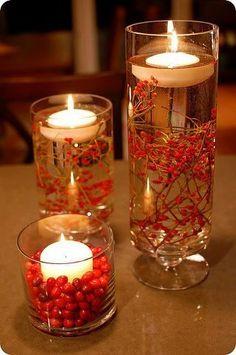 candels in the dark