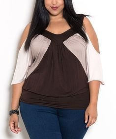Look what I found on #zulily! Tan Molly Top - Plus #zulilyfinds