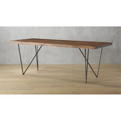 """i like this table a lot for the dining area. it is a little bit long, but will feel lighter because of the leg style. also the longer table is better for a bench   dylan 36""""x80""""dining table"""