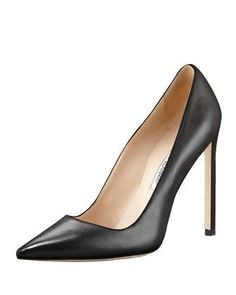 BB Leather 115mm Pump, Black (Made to Order) by Manolo Blahnik at Bergdorf Goodman.