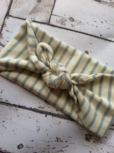 Girls toddlers cream light blue striped by bowsnsuchbymichelle, $7.50