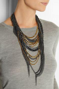 VICKISARGE|Nico silver-plated Swarovski crystal necklace|NET-A-PORTER.COM
