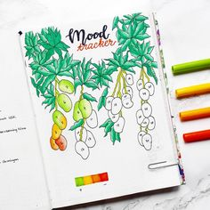Mood trackers can help to improve your mental health! Click through to find 13 (more) mood tracker ideas for your bullet journal!