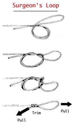 How tie the baja knot this is a variation of the for Surgeon s knot fishing