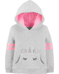 Baby Girl Unicorn Pocket Hoodie from OshKosh B'gosh. Shop clothing & accessories from a trusted name in kids, toddlers, and baby clothes. Winter Outfits For Girls, Toddler Girl Outfits, Kids Outfits, Toddler Girls, Baby Boys, Baby Girl Fashion, Kids Fashion, Toddler Fashion, Baby Girl Sweaters