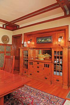 1916 Bungalow built in buffet - Minneapolis/Photo courtesy of David Heide Design Studio.