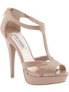 The nudest of nude heels to make your legs look miles long. The platform heel = comfort! Steve Madden