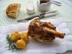 PASEN Y DEGUSTEN: CODILLO ASADO CON ROMERO. French Toast, Chicken, Meat, Breakfast, Gastronomia, Crock Pot, Pork, Spanish Kitchen, Food