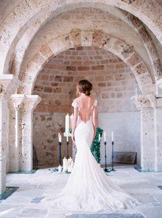 Breathtaking + elegant low back wedding dress: Photography: Le Secret D'Audrey - lesecretdaudrey.com