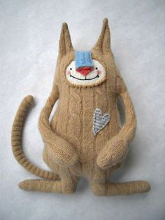 Cashmere Cat from repurposed sweater. from sweetpoppycat on etsy
