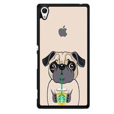 I Love Starbucks Bulldog TATUM-5476 Sony Phonecase Cover For Xperia Z1, Xperia Z2, Xperia Z3, Xperia Z4, Xperia Z5