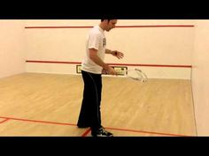 Squash Tips - How To Serve During a Squash Game - so I can kick some German butt.