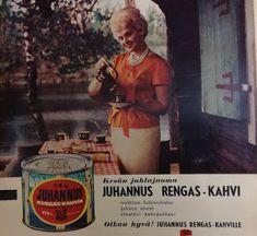Vanhat suomalaiset peltipurkit: OTK:n Juhannus Rengas-kahvi-purkki Baseball Cards