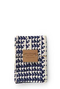 Jenny Pennywood - Triangles Tea Towel in Indigo