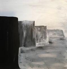 """The Irish Cliffs,"" acrylic on wood, 24x24, in honor of my Celtic ancestors."