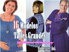 Delicadezas en crochet Gabriela: Colecciòn prendas de damas talles grandes