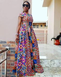 Gorgeous African Print dresses in fashion African Fashion Ankara, Latest African Fashion Dresses, African Print Fashion, Long African Dresses, African Print Dresses, African Blouses, African Traditional Dresses, African Attire, Bunt