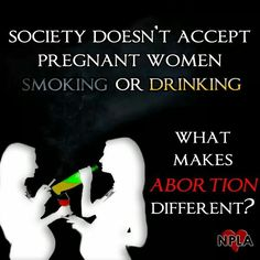 Because society is lying to themselves about their right to a choice that's not theirs to make. End abortion. #prolife