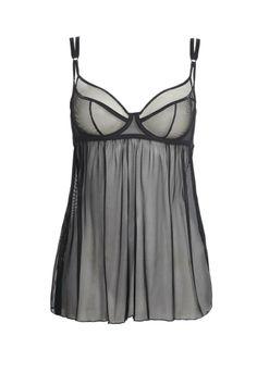 figleaves boudoir Carmen Babydoll in Black #LiveLoveLingerie #figleaves #Lingerie