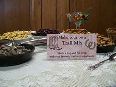 Great party favor- trail mix bar