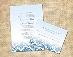 Wedding Invitation with RSVP Card