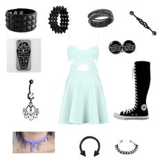 """""""Choker"""" by goatshower51602 ❤ liked on Polyvore featuring Converse and Swarovski"""