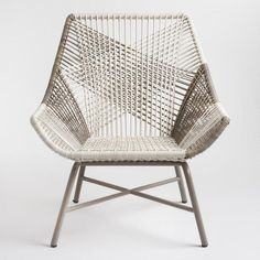 8 Cool Patio Chairs Gray Woven All Weather Wicker Andalusia Outdoor Chair #Patio #Porch #Balcony #PatioChairs #OutdoorChairs